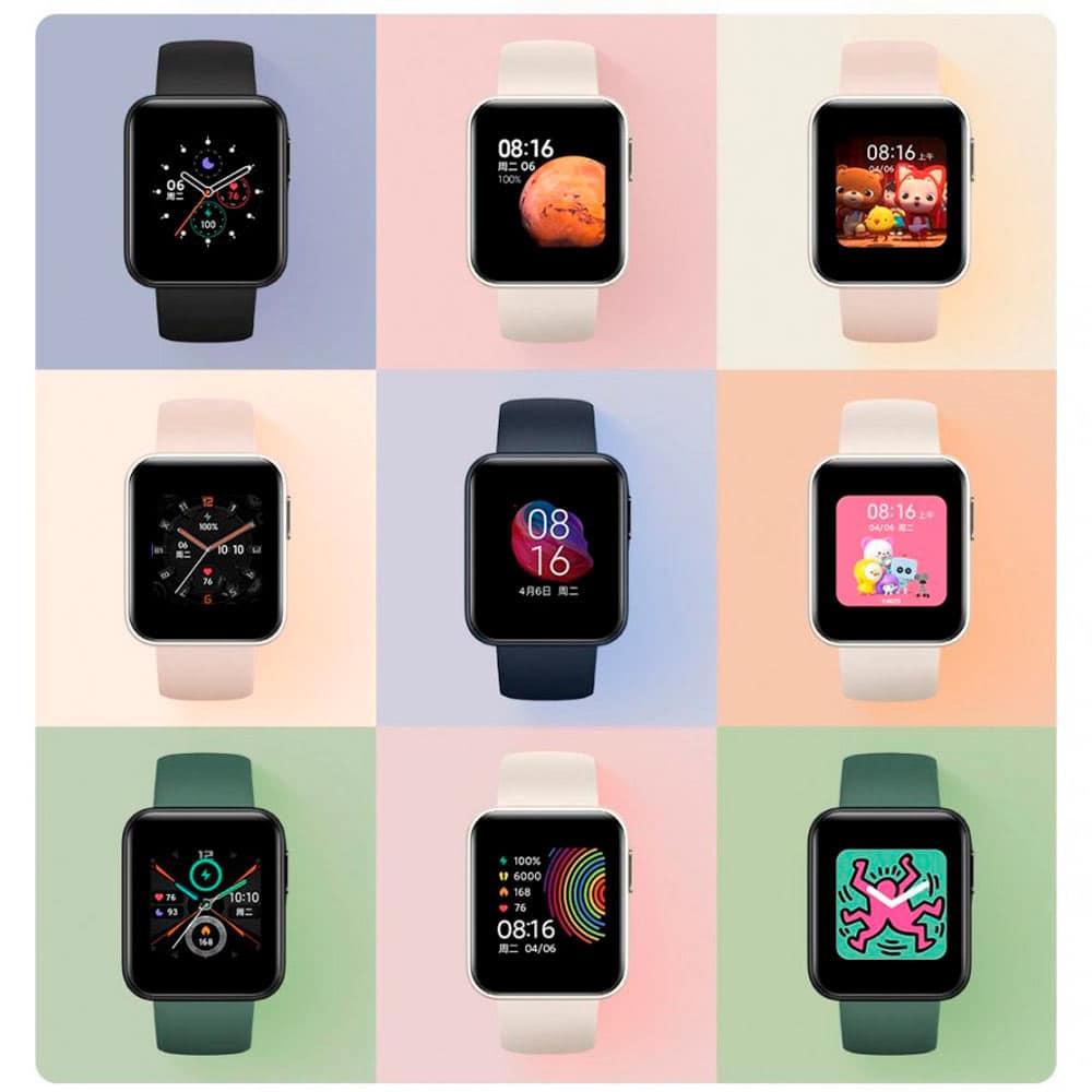 diversos redmi watch com faces personalizáveis