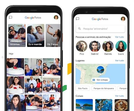 Aplicativo Google Fotos oferece wallpaper que passeia pelas recordações dos usuários - Crédito - Print de imagem disponível na Loja da Play Store - Zirlene Lemos