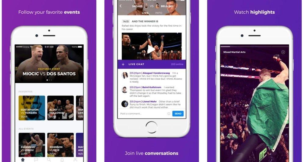 Arena Sports Chat é app para quem curte MMA, mas exclusivo para iOS
