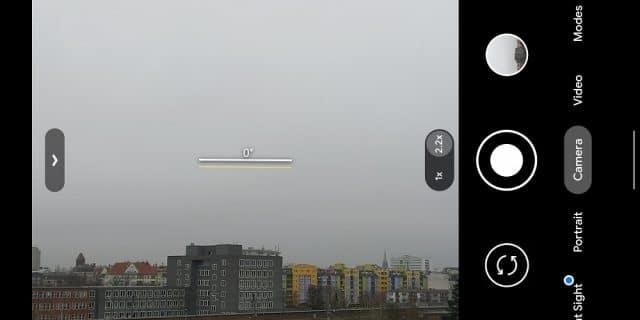 Detalhe do recurso de horizonte virtual no Pixel 5