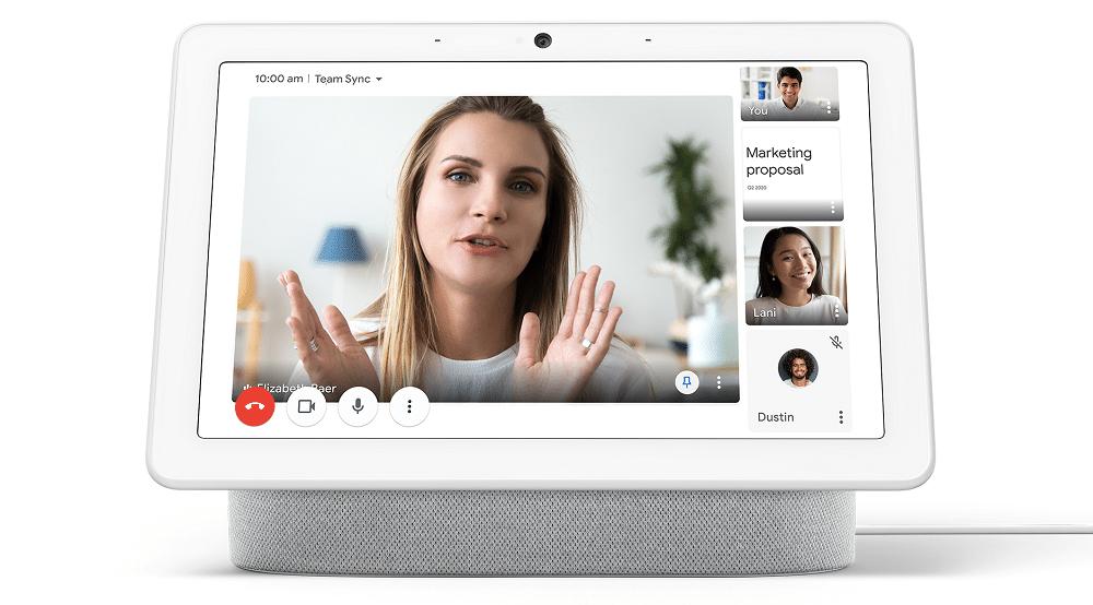 Imagem mostra funcionamento de novo recurso no Google Meet, em que é possível destacar, durante uma videochamada, a tela de um participante em relação aos outros