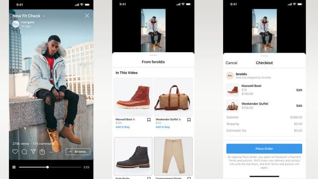 Instagram Reels ganha a opção de loja - imagem mostra uma publicação na rede social de uma modelo, na legenda é possível clicar na loja das roupas e adquirir as peças que ela utiliza na foto