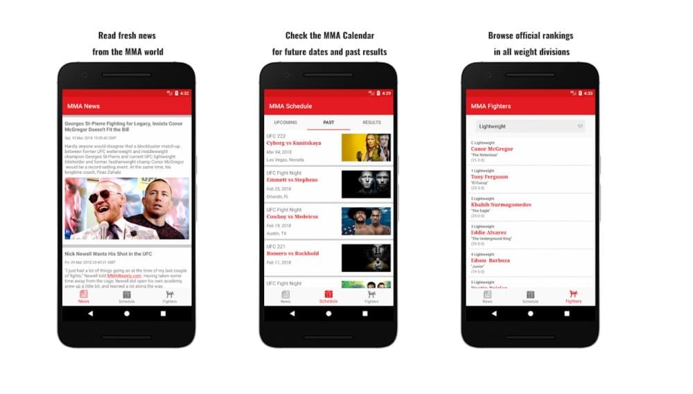 O MMA App é a opção para quem ama lutas e tem celulares Android