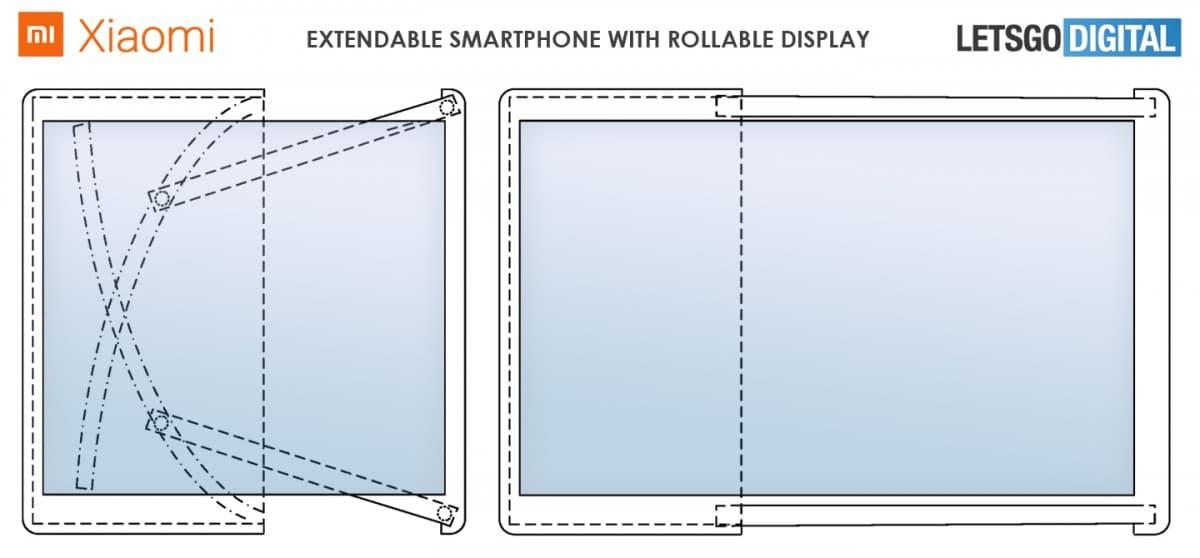 Patente do Xiaomi extensível