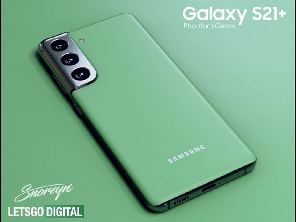 Nova variante de cor Phantom Green do Galaxy S21 Plus