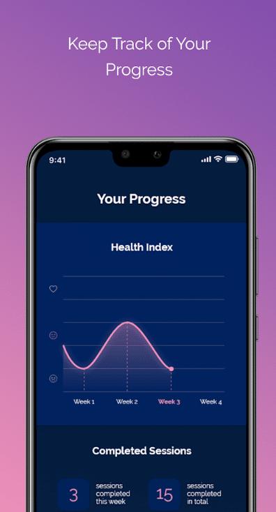 Imagem do aplicativo BlueHeart que ajuda a melhorar a vida sexual