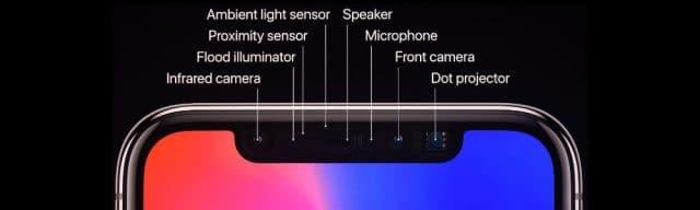 Para diminuir ainda mais o notch, Apple pretende unificar os sensores de reconhecimento facial do Iphone. Reprodução: ConceptsiPhone