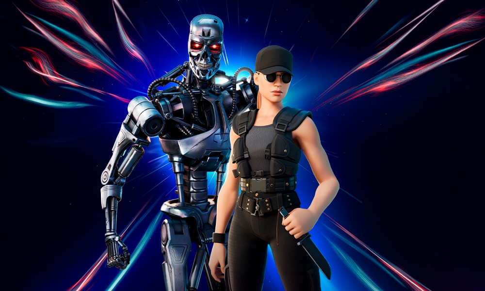 Exterminador do Futuro T-800 e Sarah Connor lançados no Fortnite