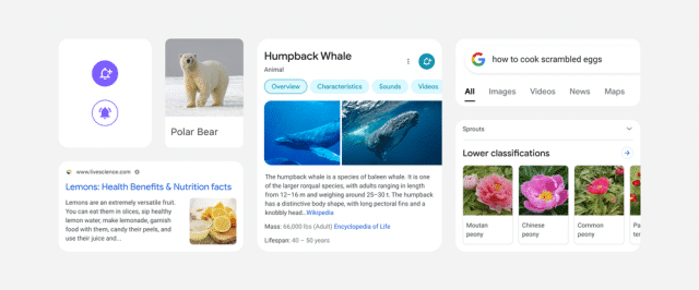 Google novo layout busca mobile
