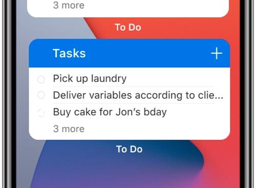 Microsoft To Do ganha atualização que permite a criação de widgets no iPhone. Montagem: Vida Celular
