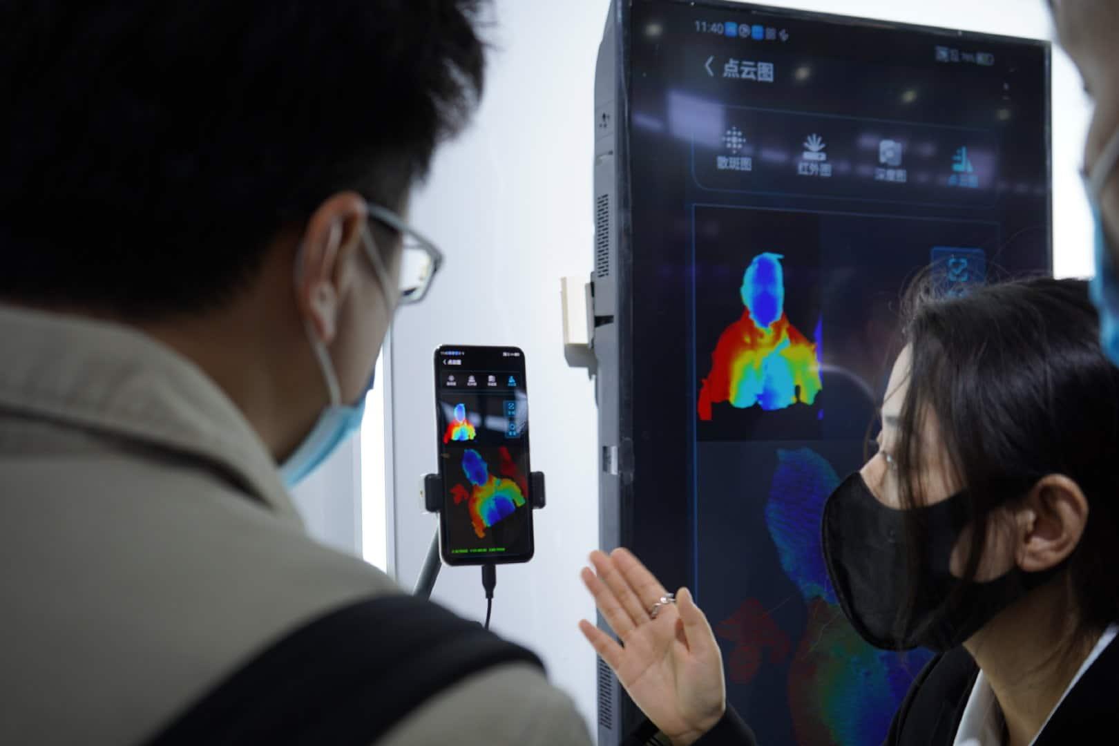 Demonstração da nova tecnologia de escaneamento 3D da ZTE