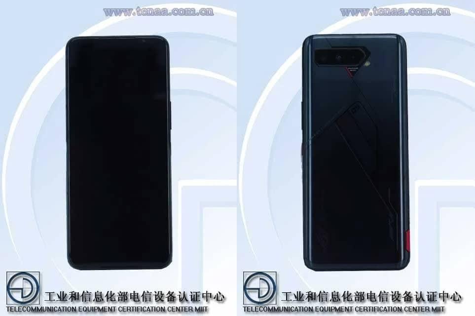 Imagem de certificação do modelo do Asus ROG Phone 5 sem a segunda tela