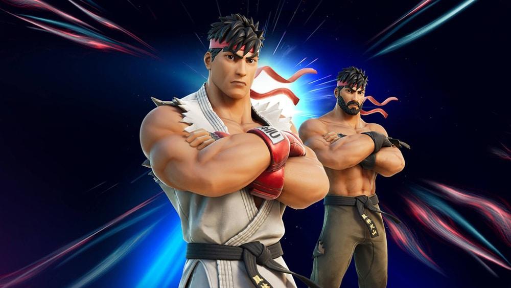 As skins da Ryu de Street Fighter em Fortnite