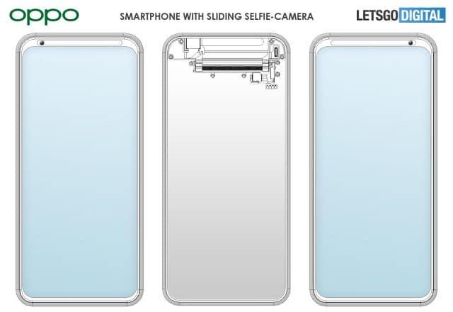 Oppo registra patente de celular com câmera de selfie que desliza para o lado