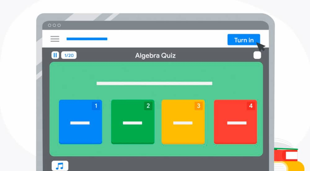 tela do google classroom