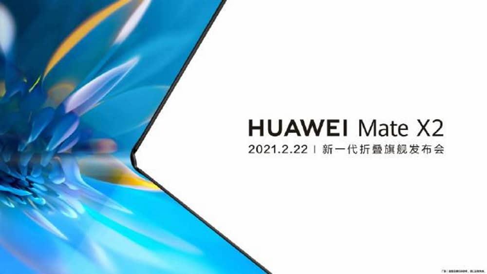 """Mate X2, da Huawei, chegará ao mercado da China no próximo dia 22 de fevereiro, e deverá dobrar """"normalmente"""""""