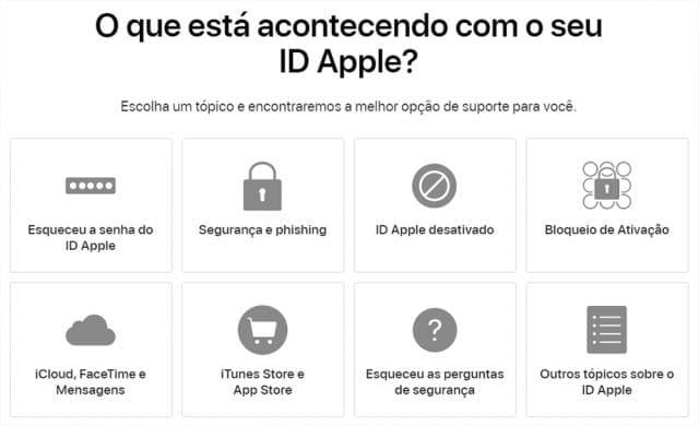 solicitação Apple
