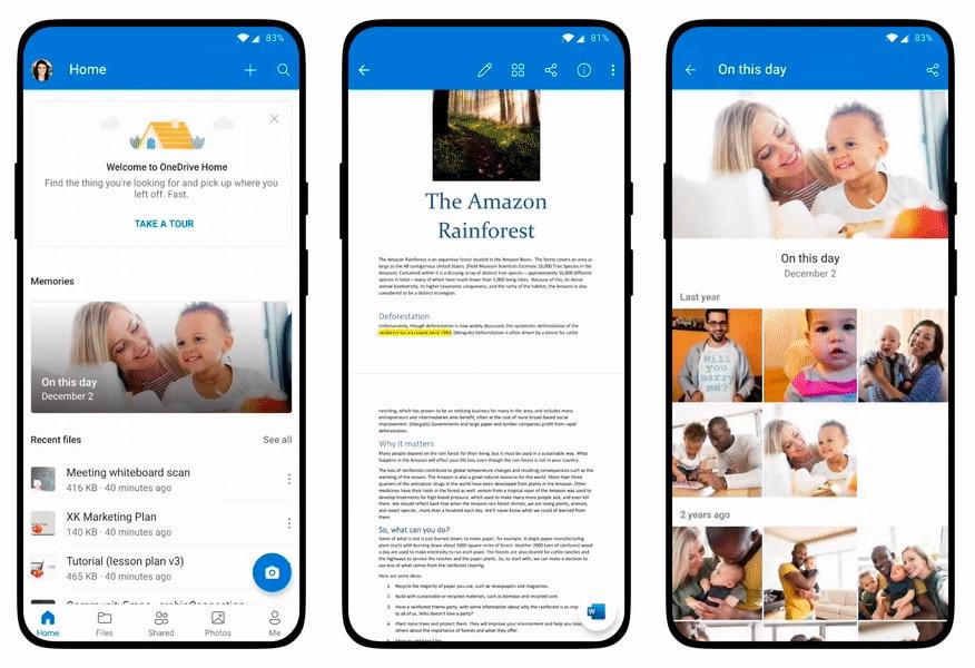OneDrive ganha novas funções para fotos