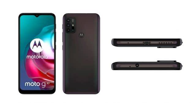 Vazam novas imagens dos Motorola Moto G30 e Moto E7 Power. Reprodução: Winfuture