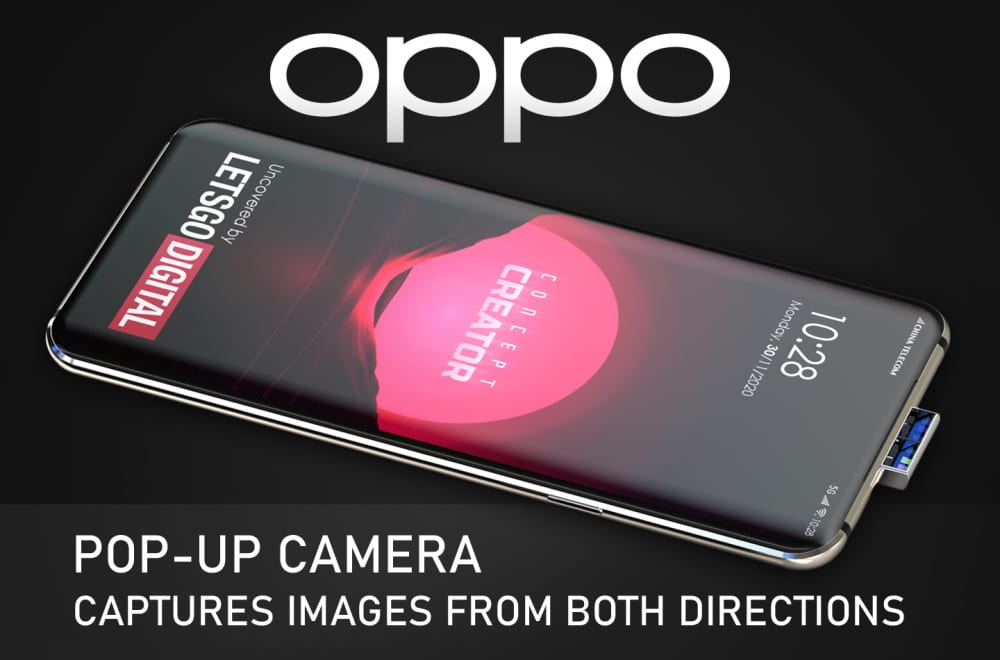 Oppo está trabalhando em uma câmera pop-up diferente, segundo patente descoberta pelo LetsGoDigital
