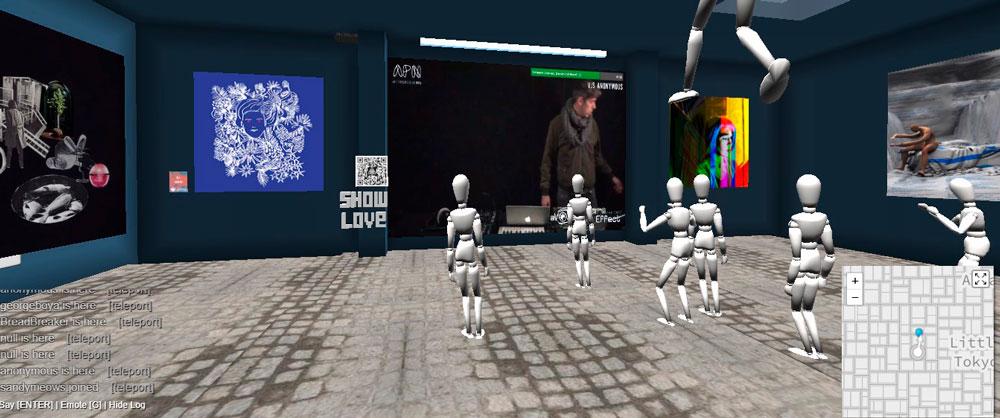 exposição virtual exibida no site crypto voxels