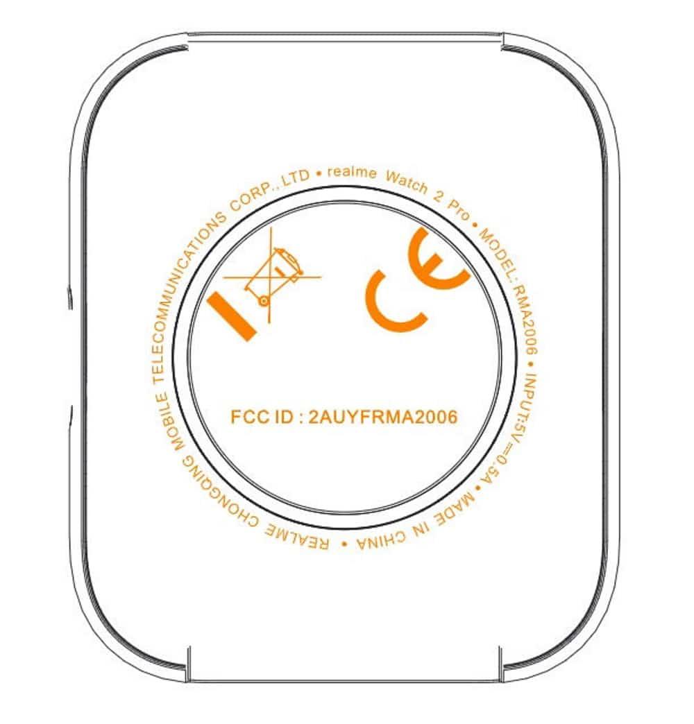 Realme Watch 2, perto do lançamento, teve diagrama publicado que confirma caixa quadrada no smartwatch