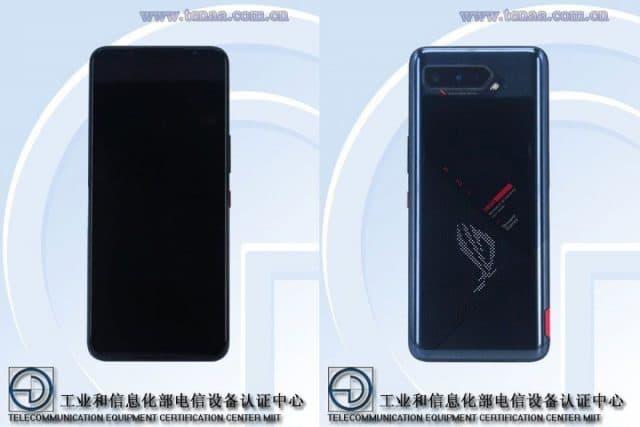 ROG Phone 5 conforme a imagem vazada da certificação pelo TENAA