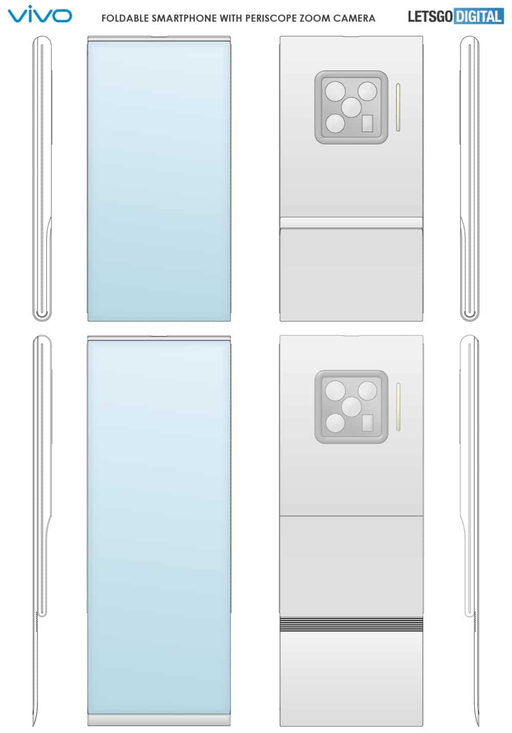 Patente indica que a Vivo está desenvolvendo um novo modelo de Flip Phone para lançar no mercado