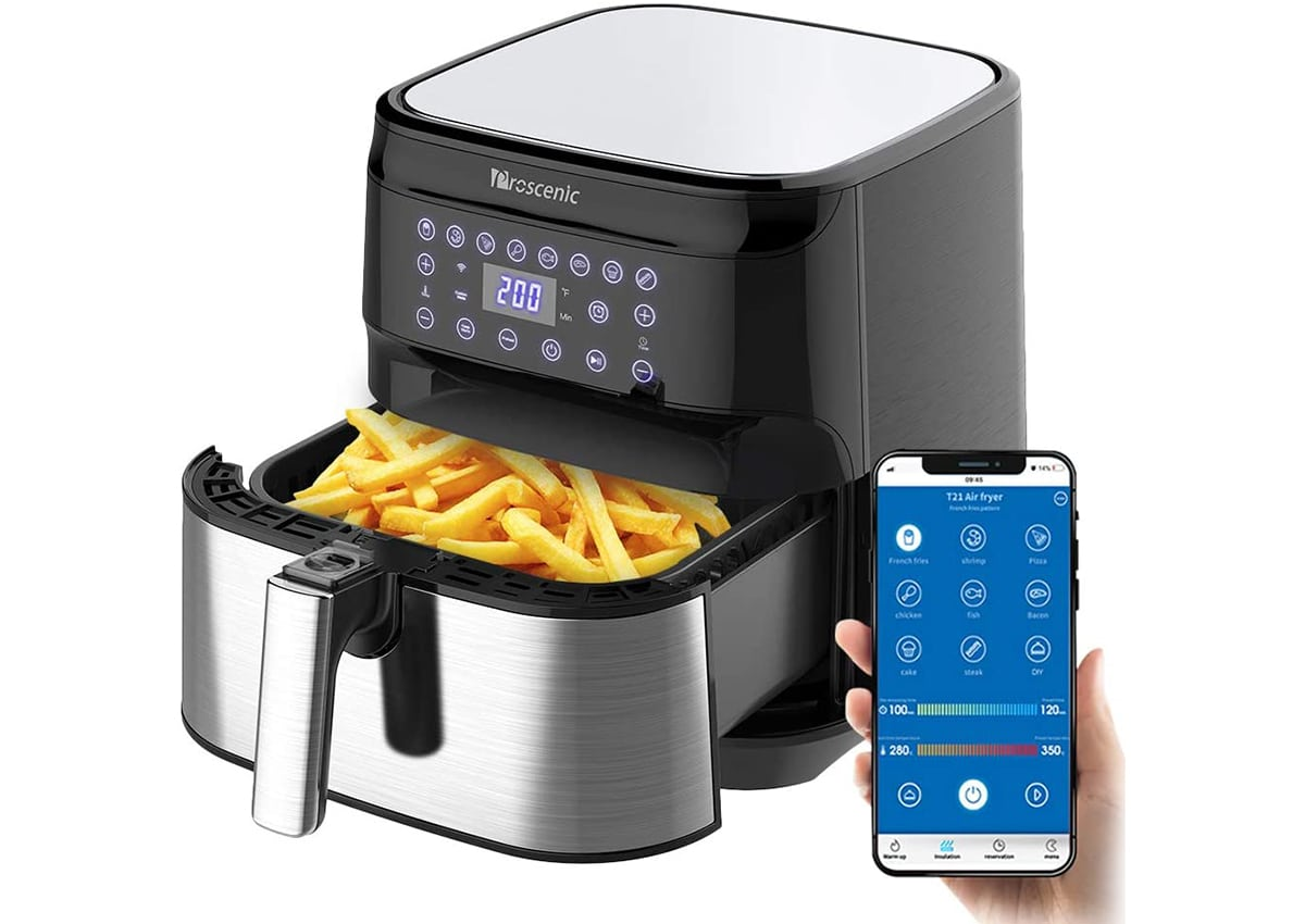 T21 Smart Air Fryer com Alexa e Google Assistente