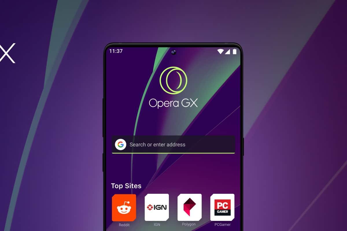 Lançado hoje, Opera GX é navegador gamer para smartphones