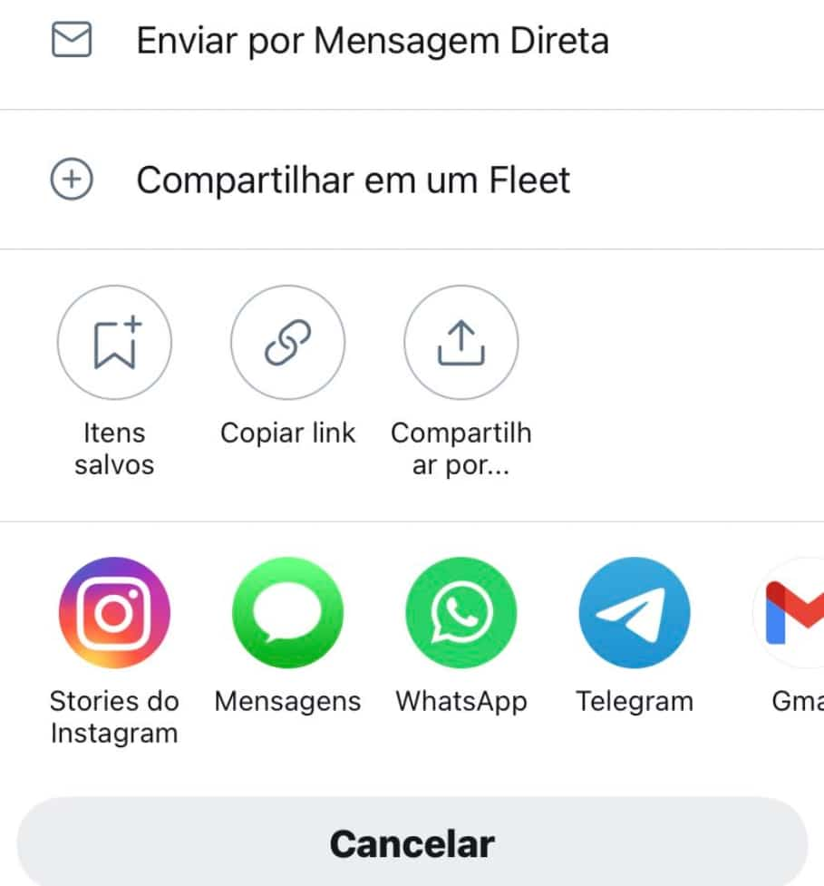 Screenshot showing the ability to share tweets on Instagram Stories